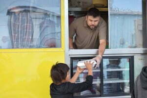 Answer to Food Insecurity - Food truck youth meal