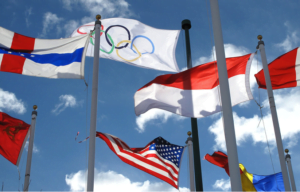 Oympic flags copyright Brad Caulkins: http://www.123rf.com/profile_bradcalkins