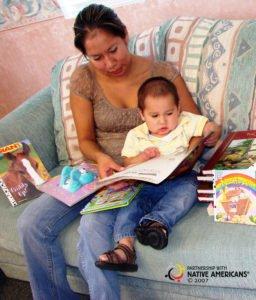 9.06.16 International Literacy Day copyright - AIRC-Literacy 11-Tayson Williams and mom Stephanie